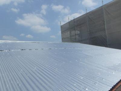 大阪狭山市のトタン屋根塗装