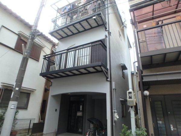 堺市美原区の三階建ての塗装