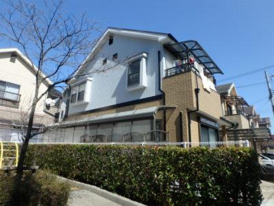 大阪狭山市の二色分けの戸建住宅
