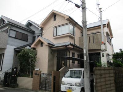 堺市中区の戸建住宅の塗装工事
