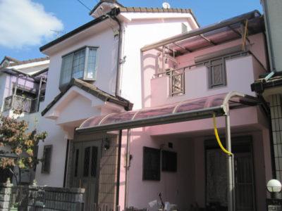 羽曳野市のフッ素の外壁塗装