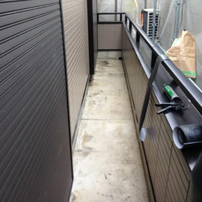 堺市のベランダ防水の施工前