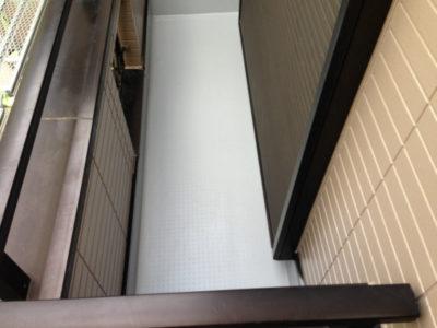 ベランダ(バルコニー)防水工事が完成した床