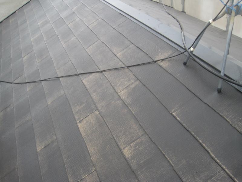 屋根塗装ができる状態になったスレート屋根