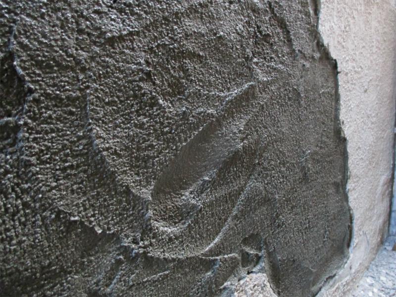 壁の補修工事