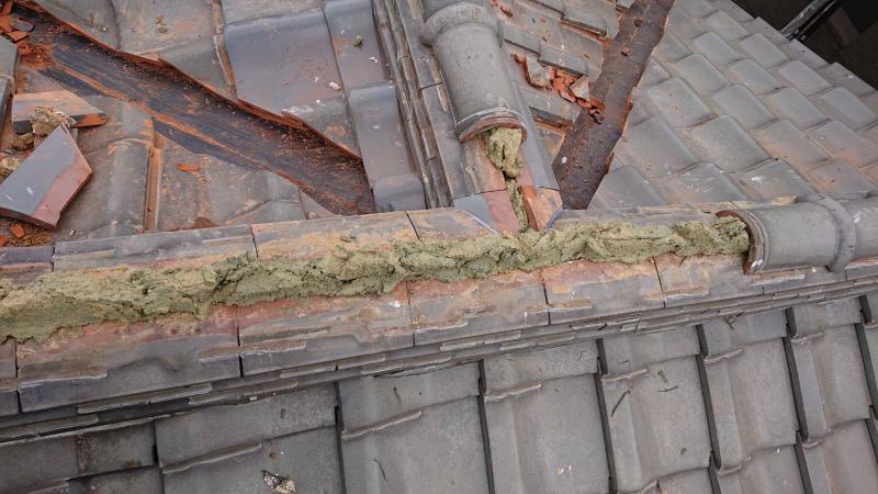 棟の取り直し工事