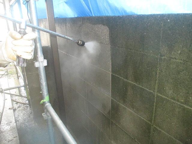 セキスイハイム 高圧洗浄