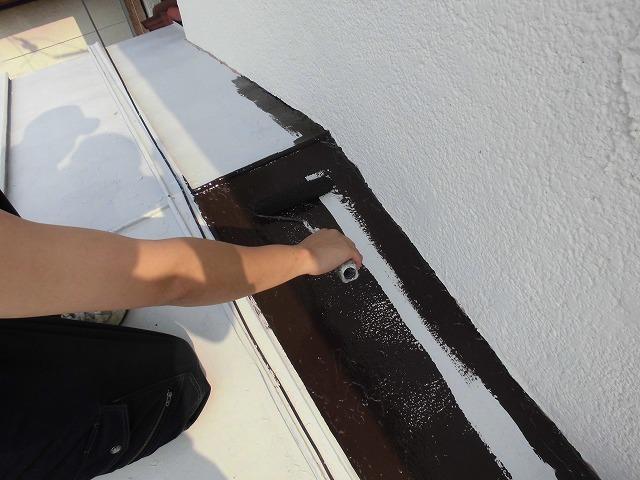 瓦棒屋根 上塗り