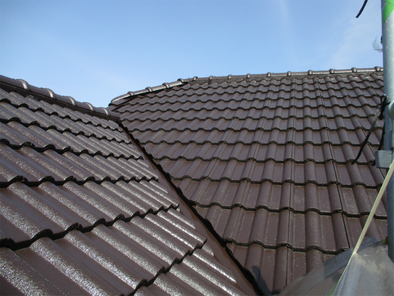 モニエル瓦の屋根塗装