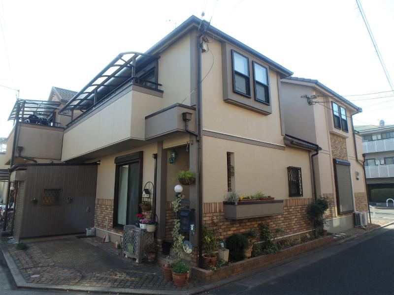 八尾市の外壁塗装した住宅