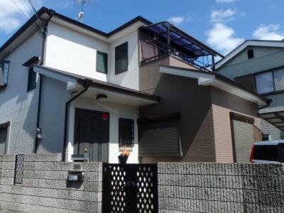 藤井寺市の塗装工事完成の家