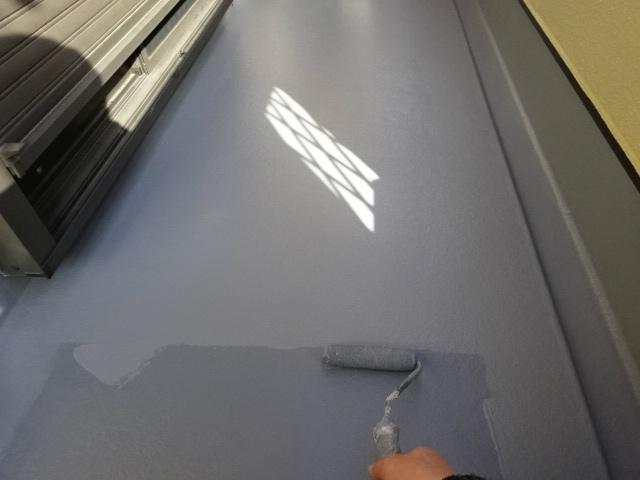 ベランダの床塗装