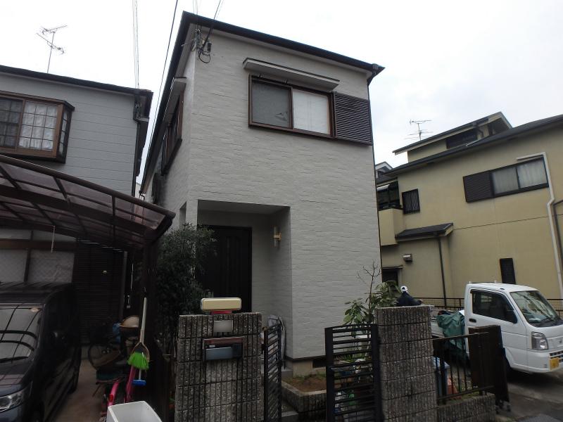 松原市の塗装後の家