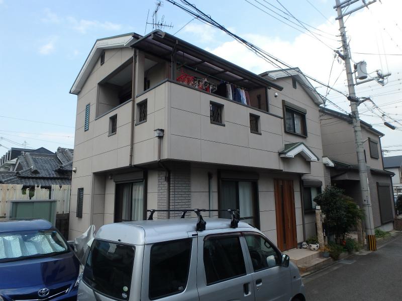 藤井寺の戸建塗装