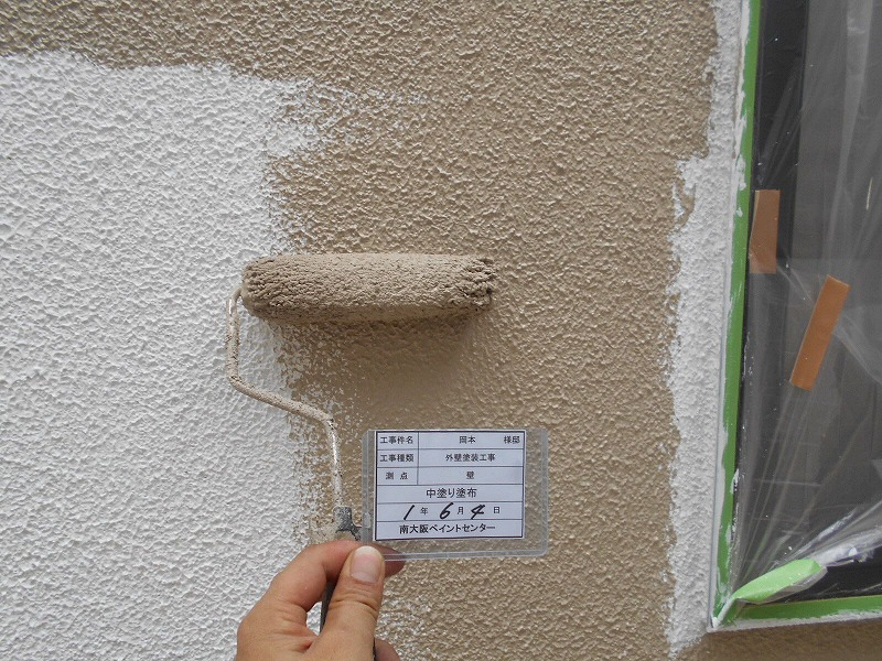 三井ホーム 上塗り
