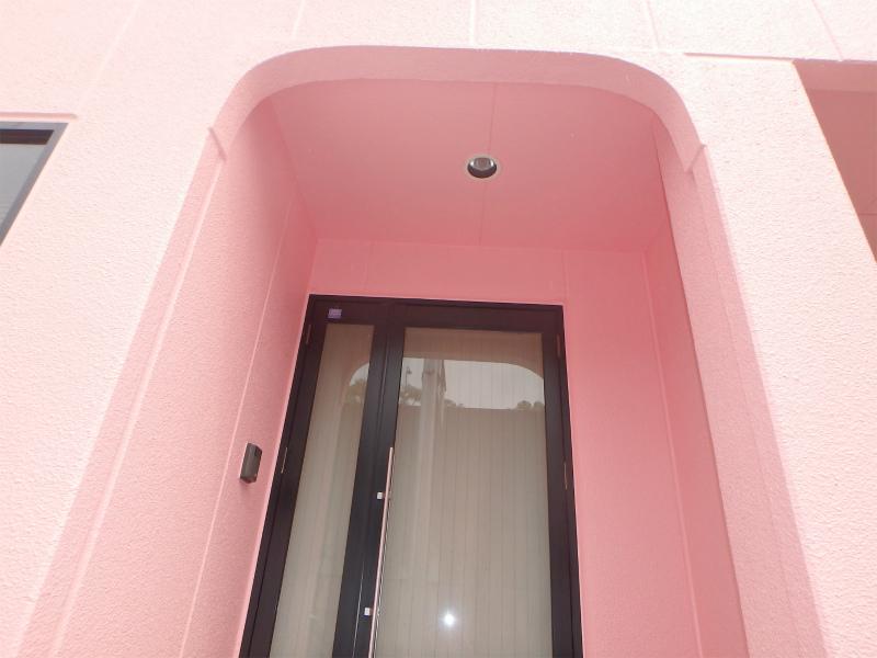 玄関の塗り替え