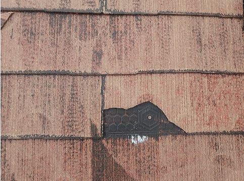 スレート屋根 破損