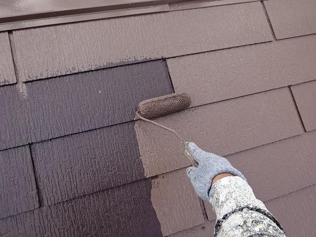 遮熱塗装の上塗り