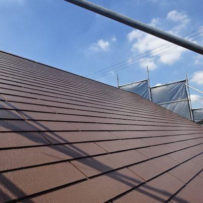 屋根塗装(遮熱塗装)の完工