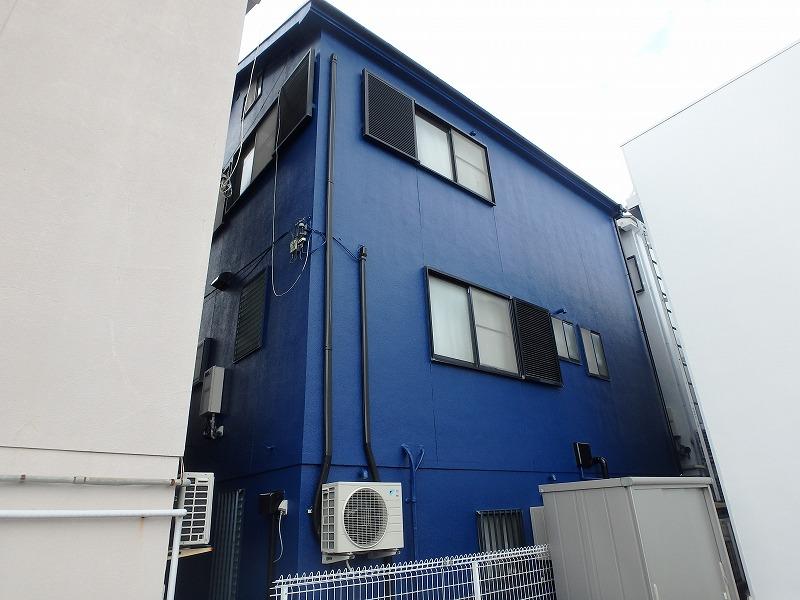 八尾市 青色塗装