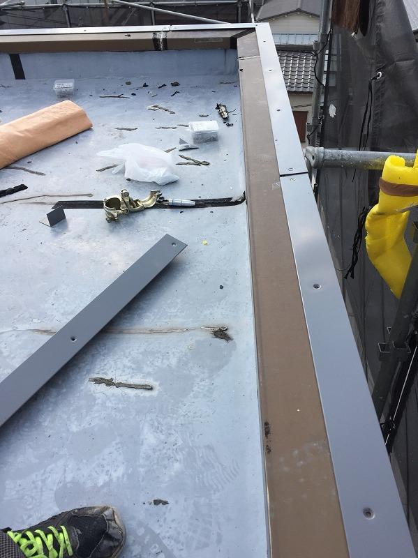 塩ビシート防水金物設置