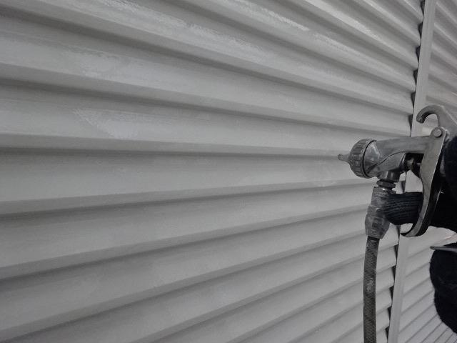雨戸シリコン塗装