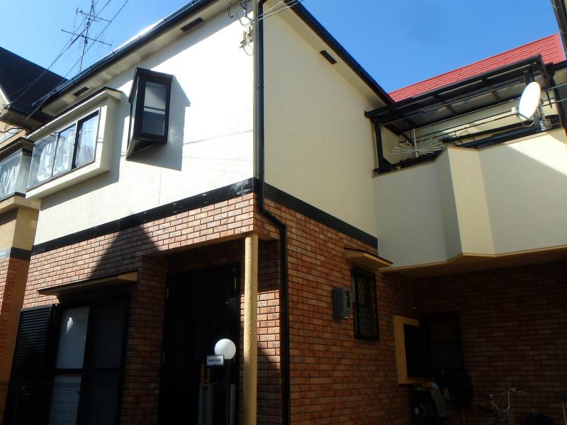羽曳野市の屋根外壁塗装工事