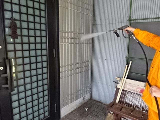 パナホームの外壁の高圧洗浄