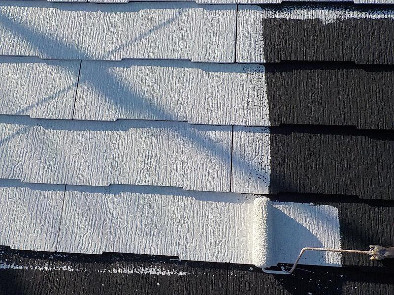 屋根遮熱塗装下塗り