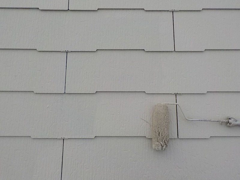 屋根遮熱塗装上塗り