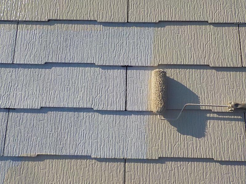 屋根遮熱塗装中塗り