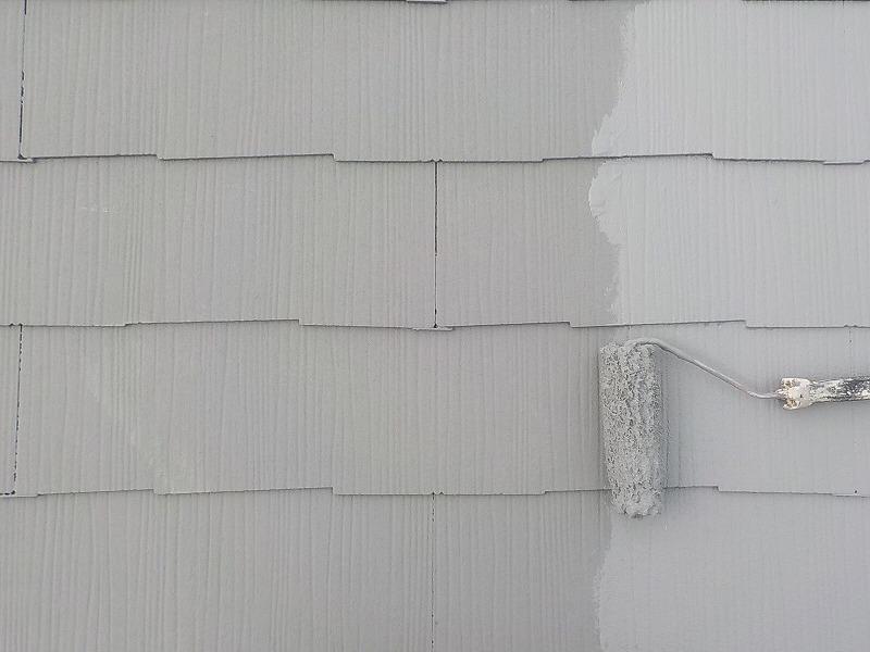 屋根ガイナ塗装2回目