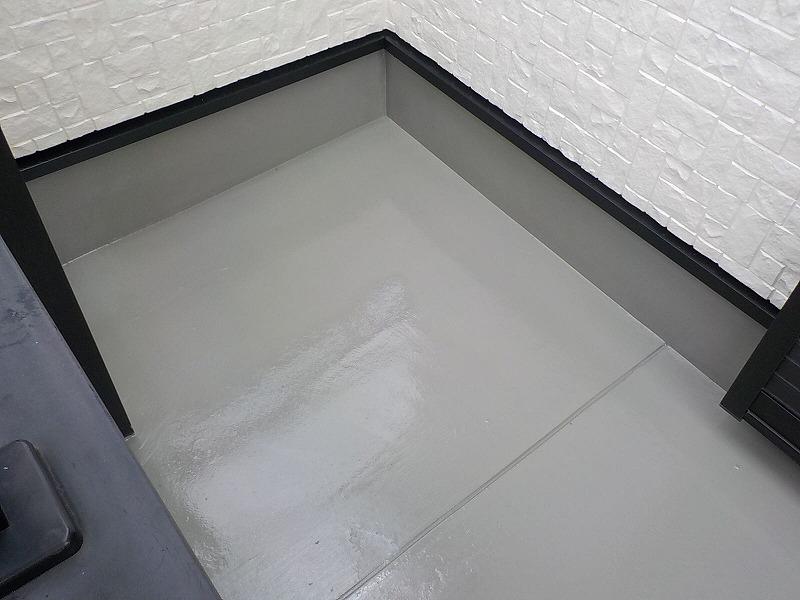 ベランダ床塗装完了