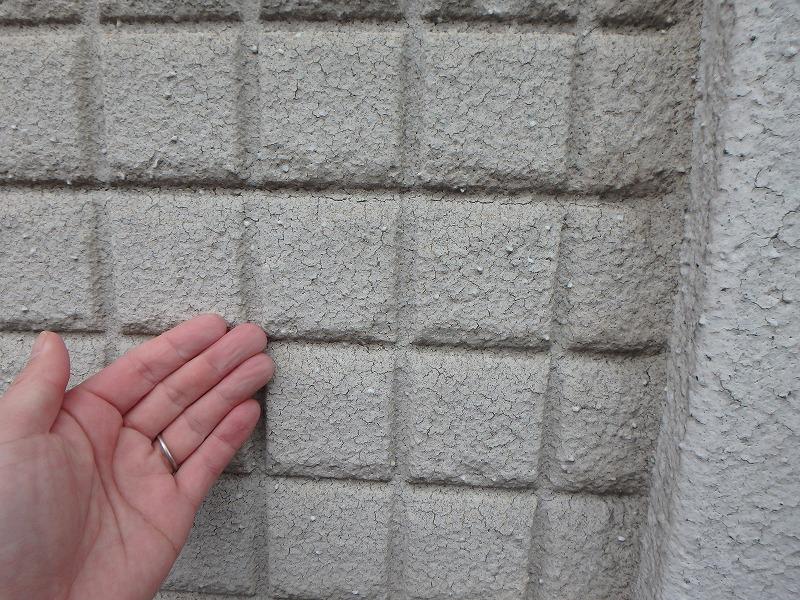 セラミック塗料の劣化を触って確認
