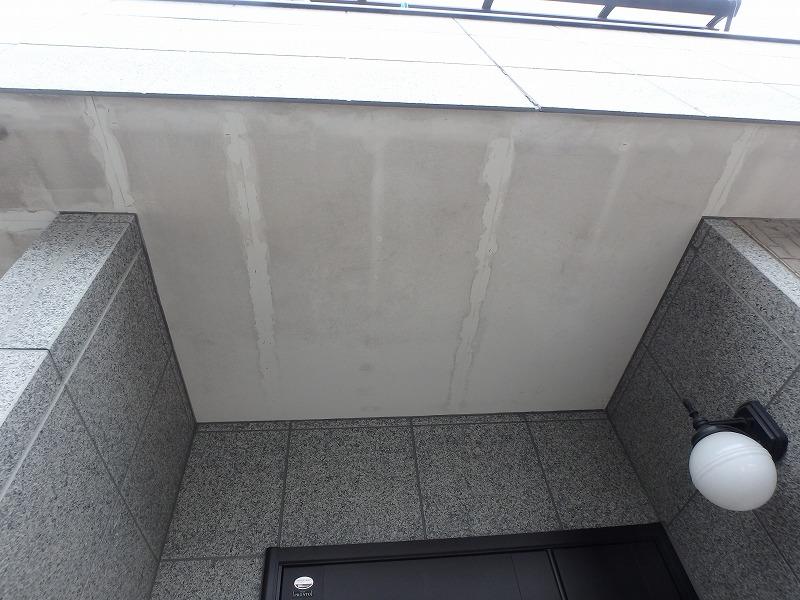 色あせの目立つ軒天井