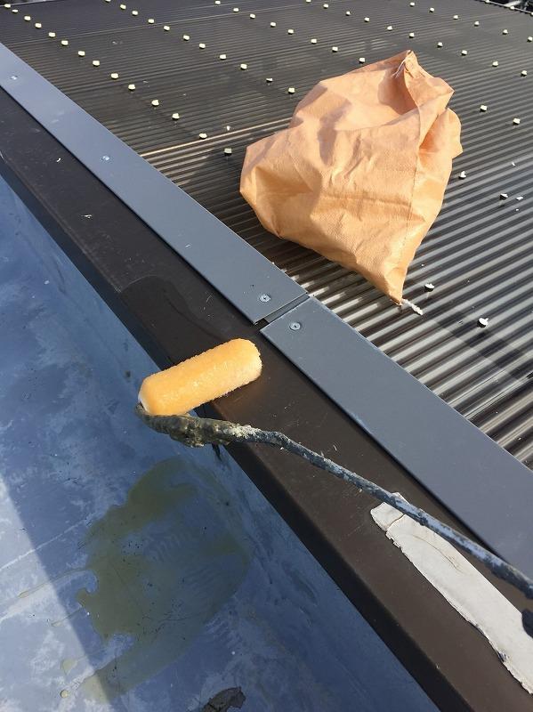 屋上防水 プライマー塗布
