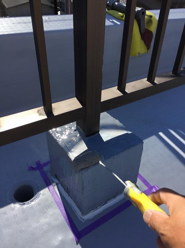 手摺ブロックの塗装