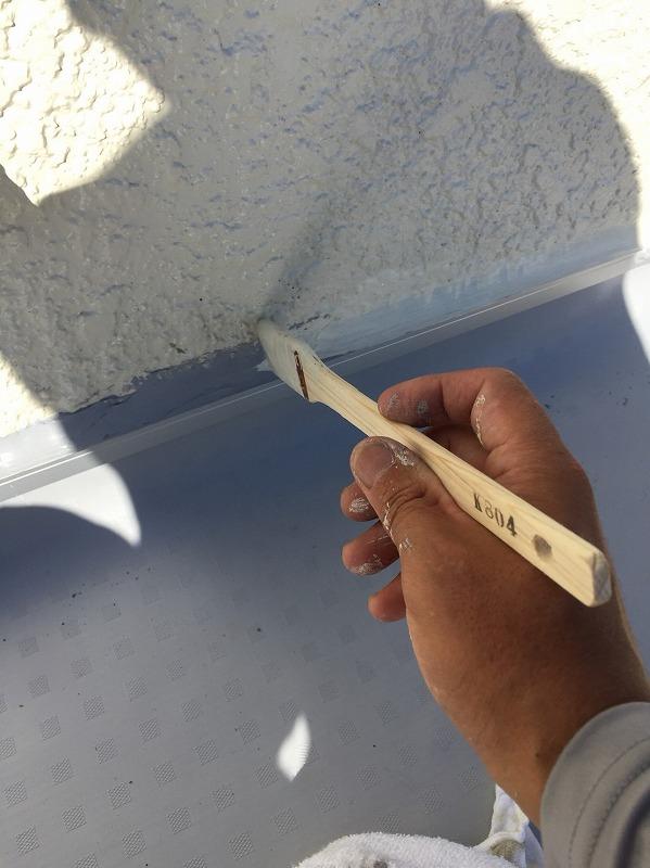 塩ビシート防水 プライマー塗布
