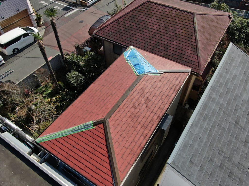 ドローンによる上空写真