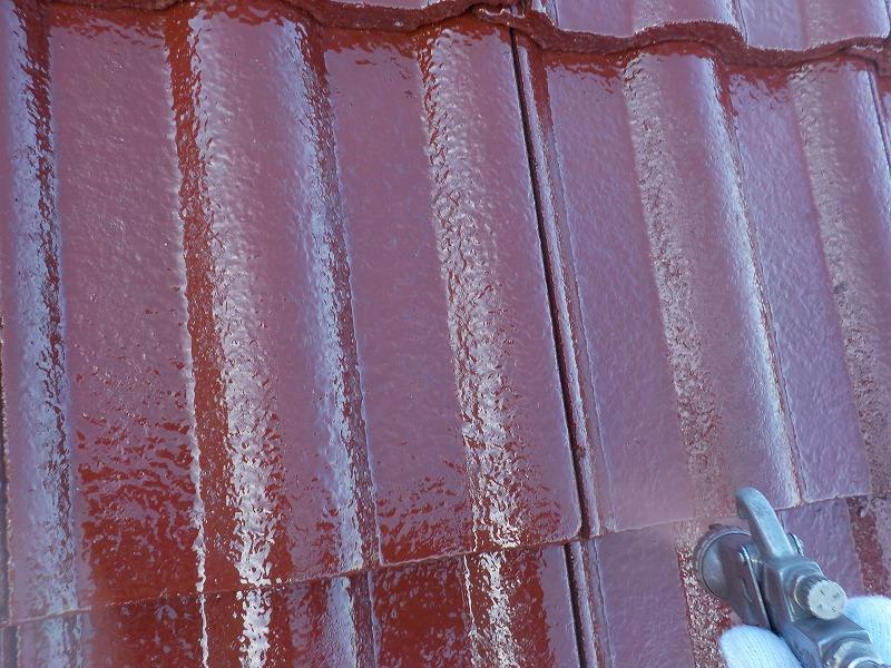 モニエル瓦の吹付塗装