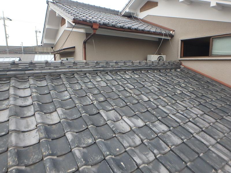 70年以上経過した瓦屋根