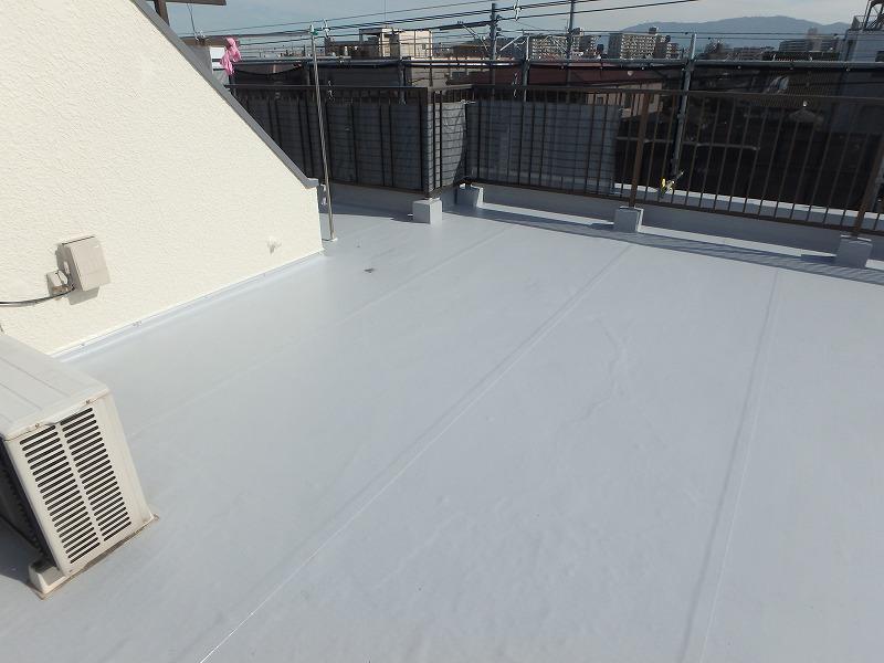 屋上防水を施工した後