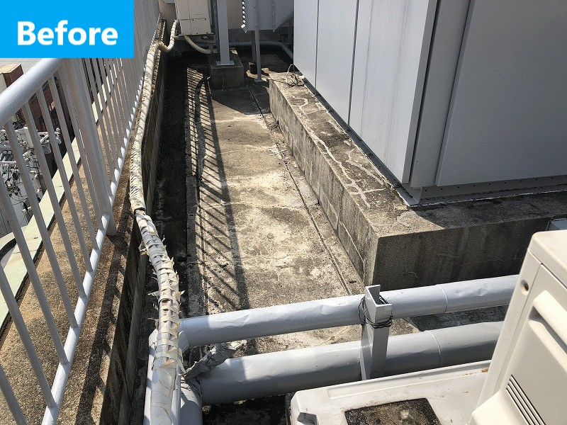屋上のウレタン防水施工前
