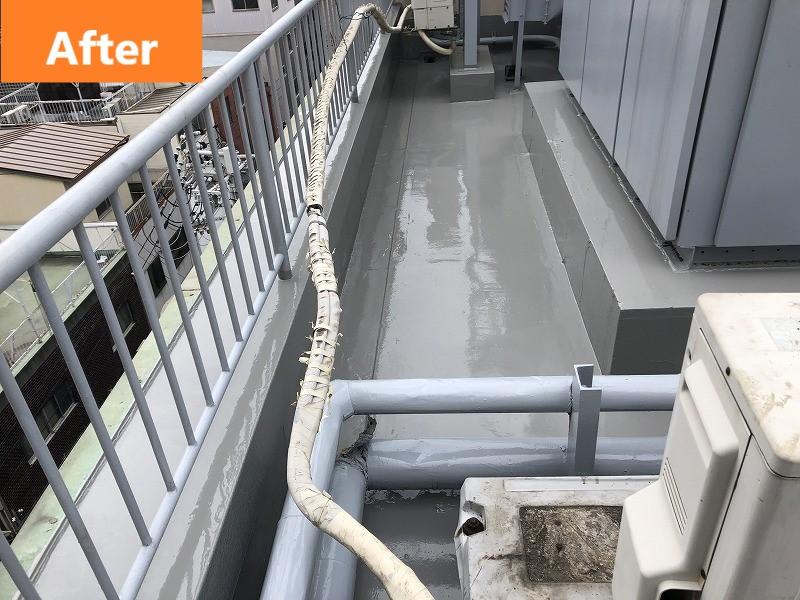 屋上のウレタン防水施工後