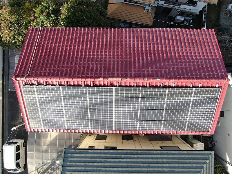 ドローンで点検した屋根