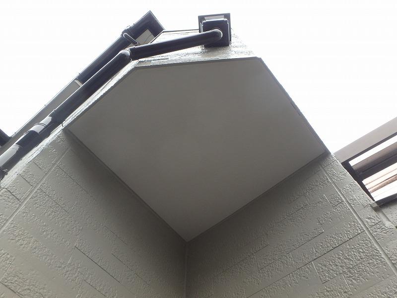 ベランダの天井(外壁塗装直後)