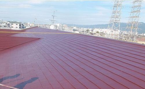 スレート屋根 塗装完了