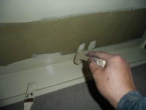 廊下側溝塗装