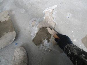 コンクリート床 モルタル補修