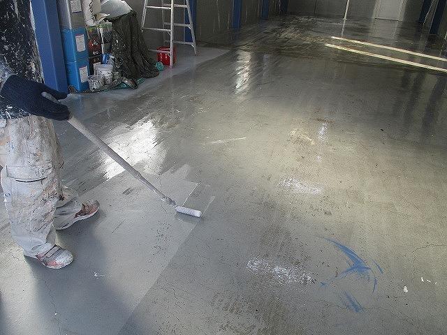 コンクリート床 下塗り